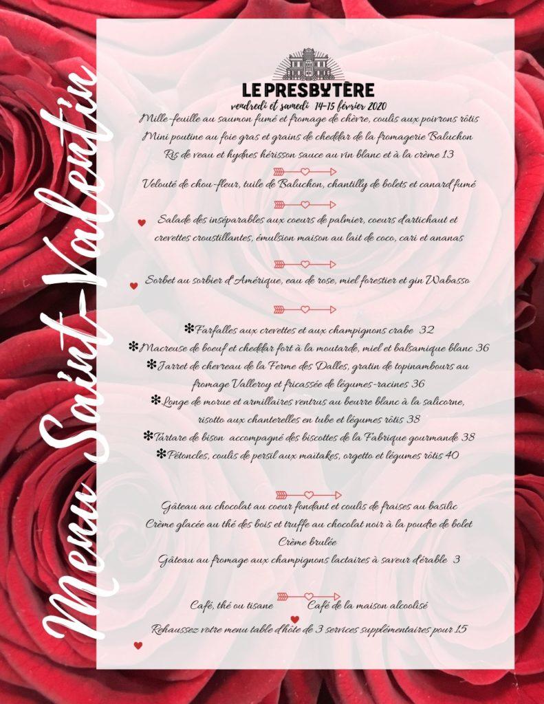 Combien De Rose Pour La St Valentin souper de la st-valentin   le presbytère